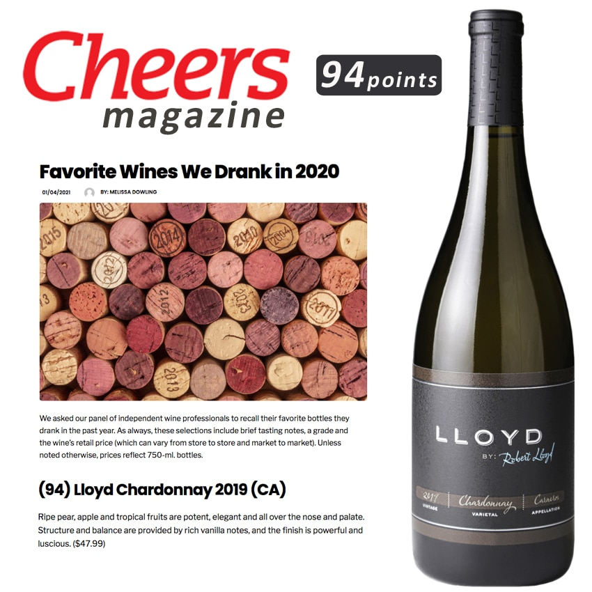 Cheers magazine scores Lloyd Chard 94 Points