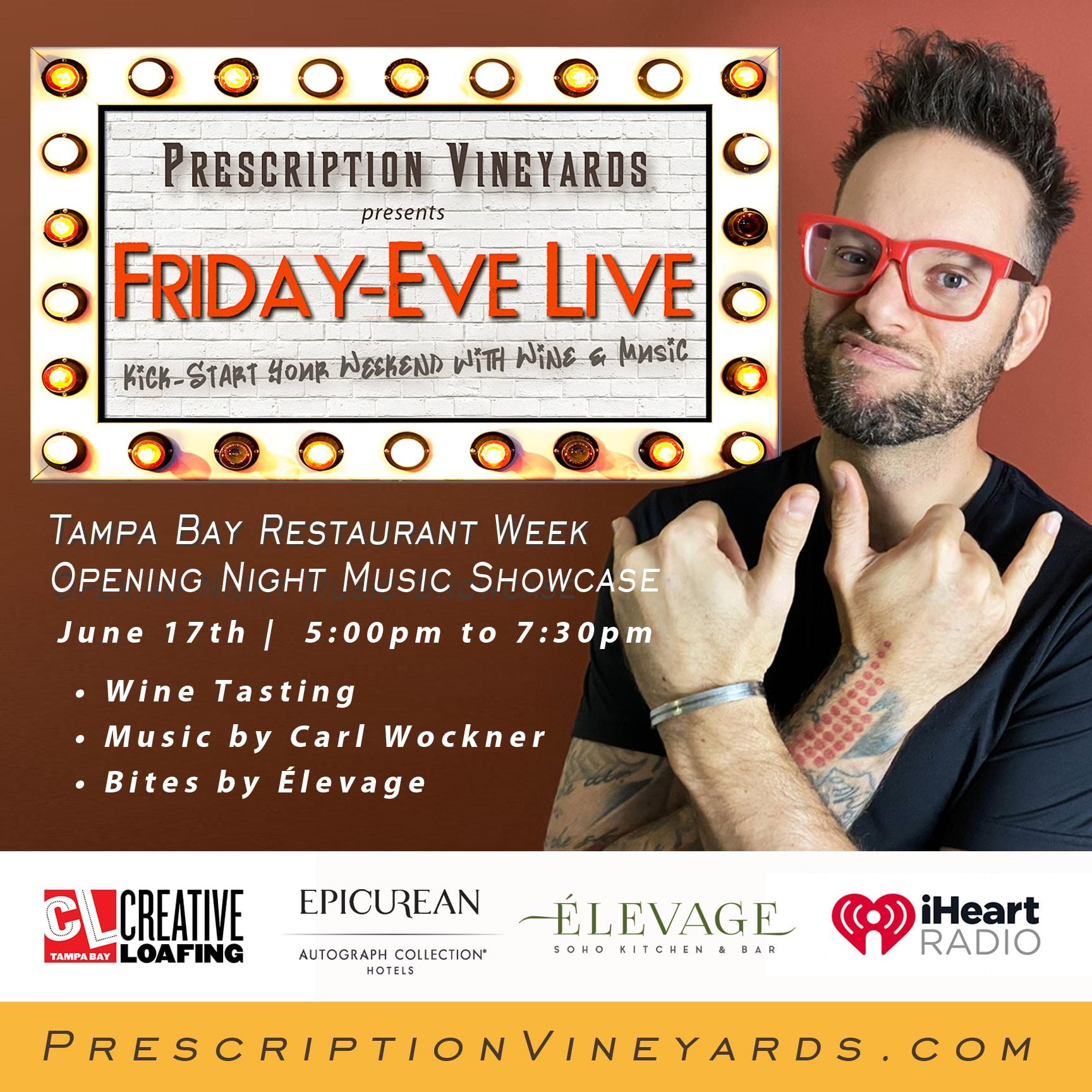 Carl Wockner Headlines Friday-Eve Live in Tampa