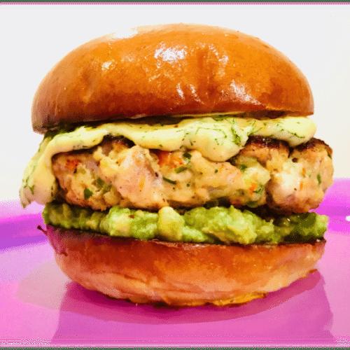 Sta. Rita Hills Salmon Burger